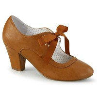 Wiggle-32 - Caramel Faux Leather