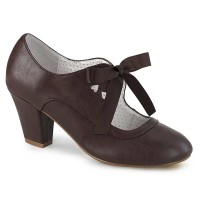 Wiggle-32 - Dark Brown Faux Leather