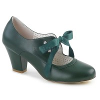 Wiggle-32 - Dark Green Faux Leather