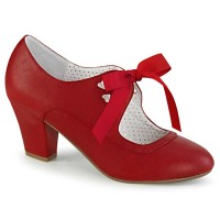 Wiggle-32 - Red Faux Leather