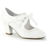 Wiggle-32 - White Faux Leather