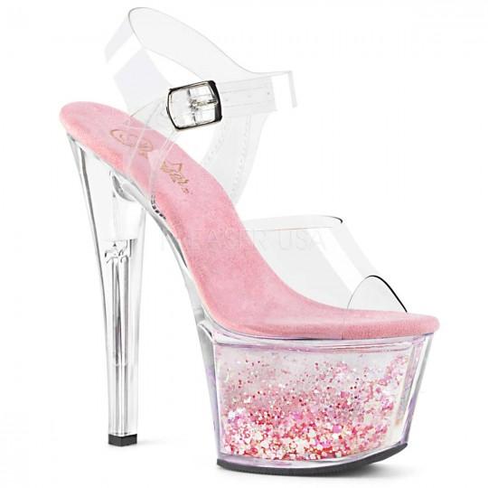 Baby Pink Glitter Heels