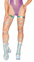 3628 - 100 Iridescent Foil Leg Strap with Attached Garter