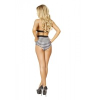 T3123 Houndstooth Halter Top