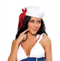 Sailor Hat with Red Ribbon