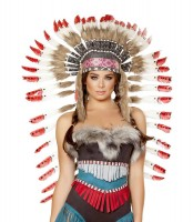 Indian Headdress with Red Tips