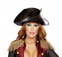Leatherette Pirate Hat