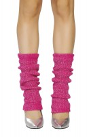 Sparkle Leg Warmer - Hot Pink Silver