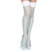 Blue Ice Queen Fishnet Leggings