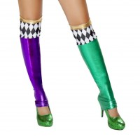 Green and Purple Jester Leggings