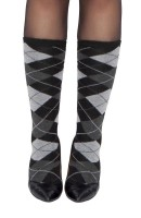 Grey Argyle Stocking