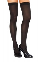 STC201 Black Thigh High Stockings
