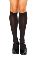 STC202 Black Knee High Stockings