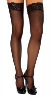 ST206 Black Thigh High Stockings