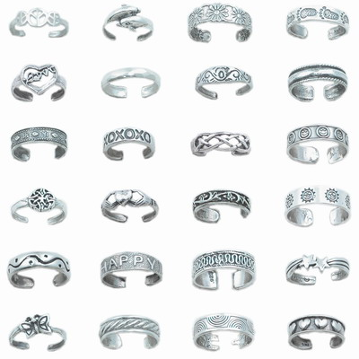 TR-A072 Random Toe Ring Assortment 72 Pieces - Random Assortment