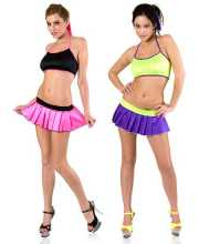 Tony Shoes Volume 22  Tony Wear 1134 - Two tone halter top skirt set in Lingerie