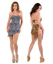 Tony Shoes Volume 22  Tony Wear 2153 - Side tie salsa dress with thong in Lingerie