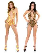 Tony Shoes Volume 22  Tony Wear 3055 - Tie side halter top monokini in Lingerie
