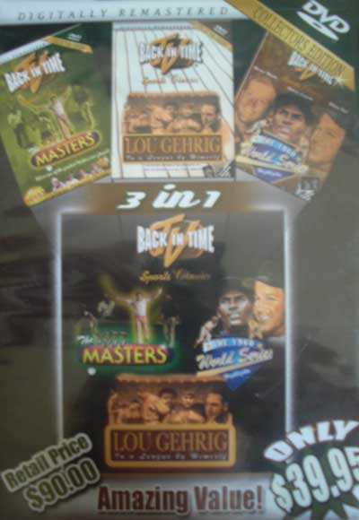 World Series - Masters - Lou Gehrig Collectors Edition DVD - WORLD SERIES - MASTERS DVD